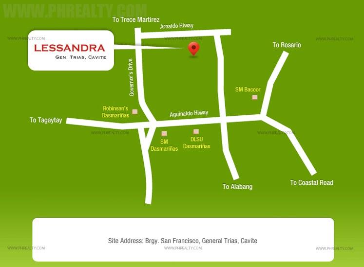 Lessandra Gen. Trias Location
