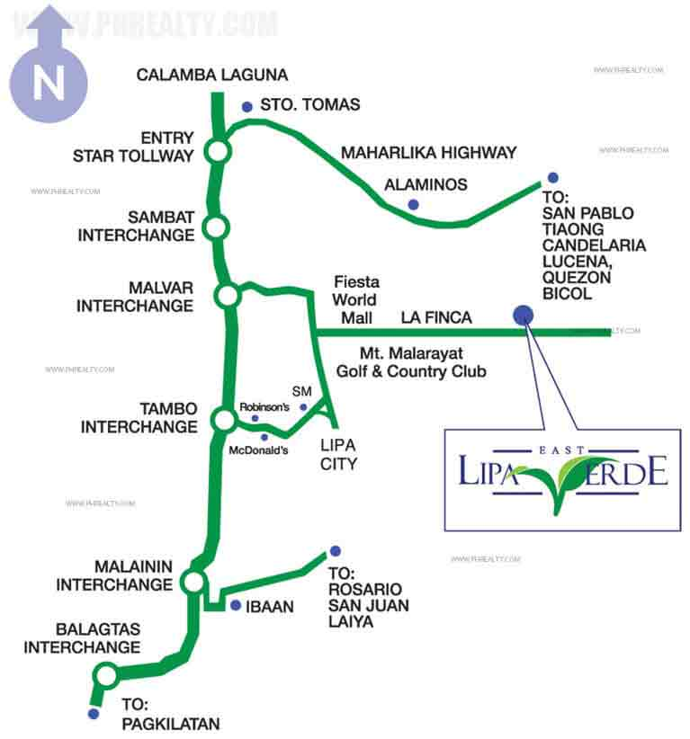 Lipa Verde East Location