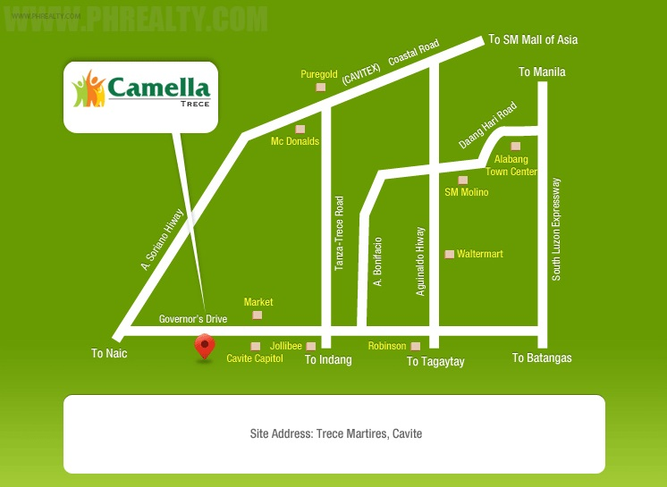 Camella Trece Location