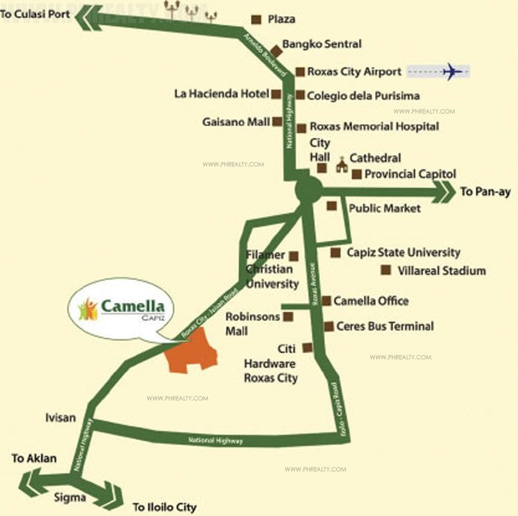 Camella Capiz Location