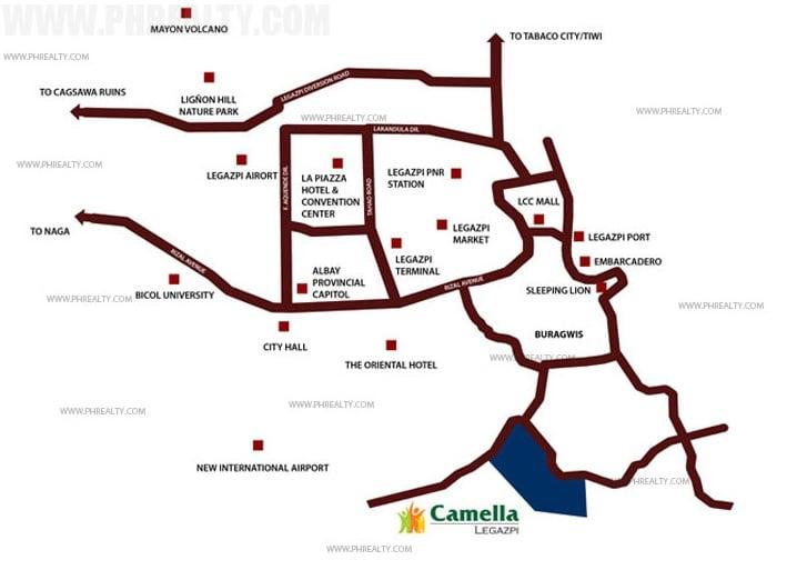 Camella Legazpi Location