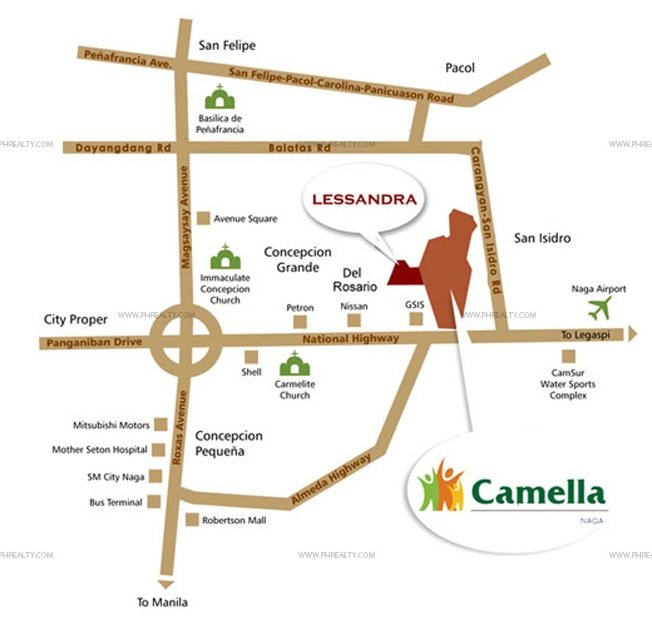 Camella Naga City Location