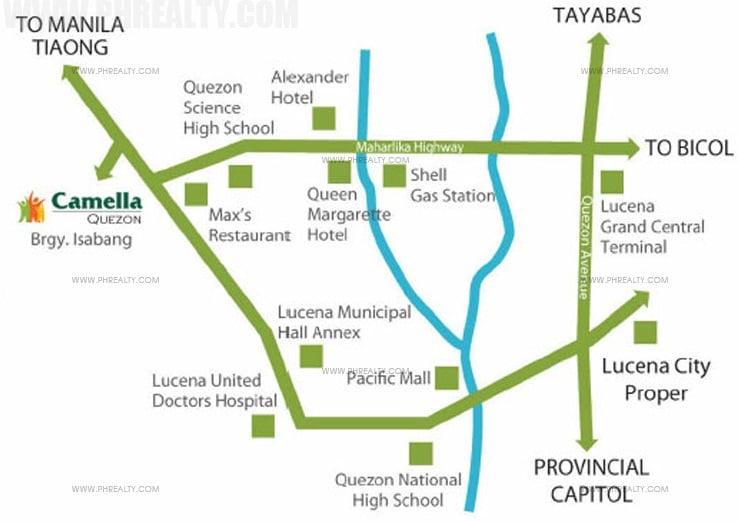 Camella Homes Quezon Location