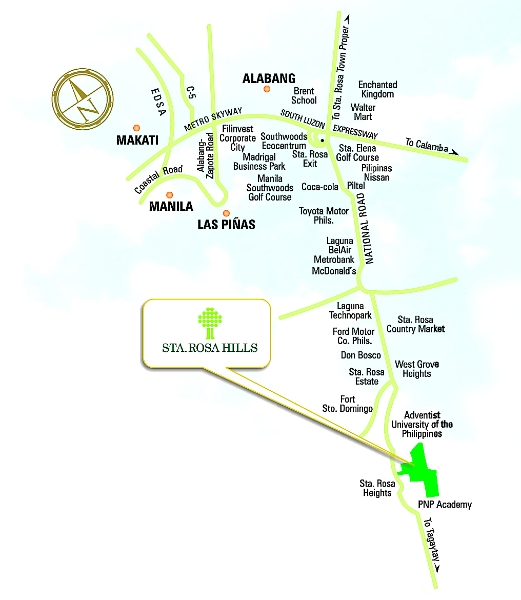 Sta. Rosa Hills Location