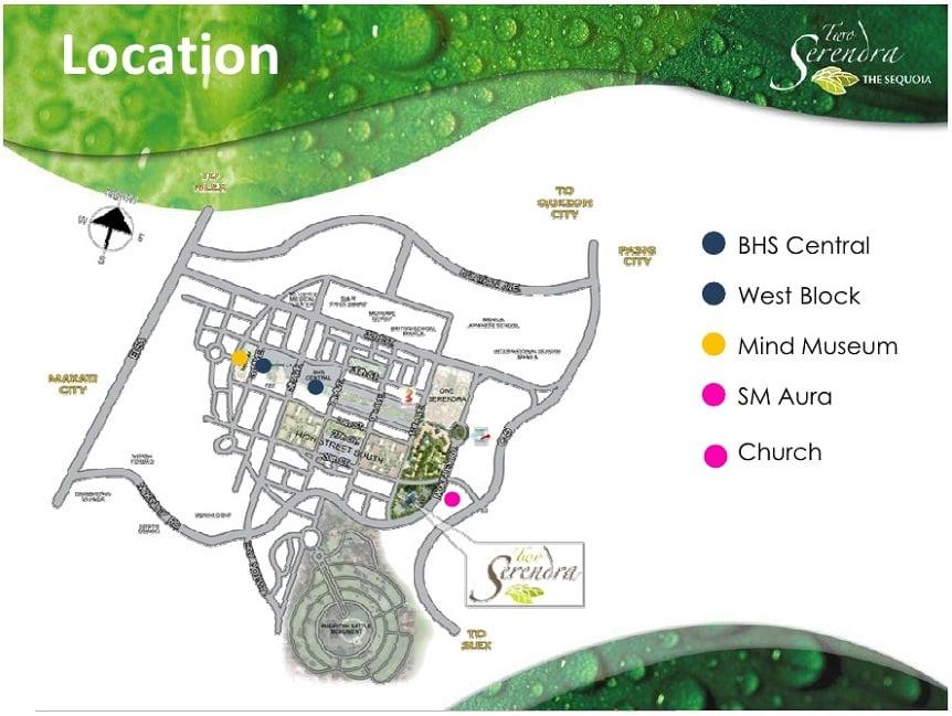 Two Serendra Location