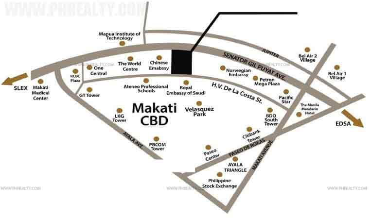 Salcedo Sky Suites Location