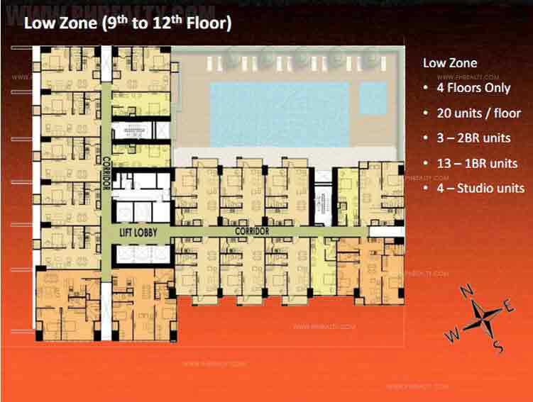 Low Zone (9th to 12th Floor)