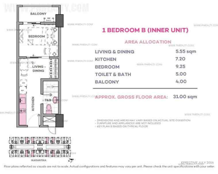 Marintana 1 Bedroom B (Inner Unit)