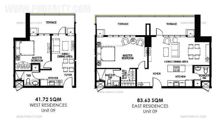 Garden deck 1 Bedroom Unit Layout