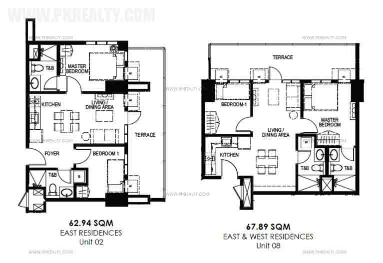 Garden deck 2 Bedroom Unit Layout