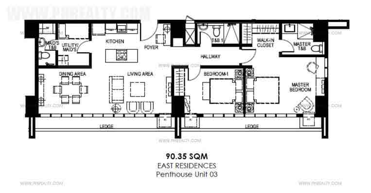 Penthouse 2 Bedroom Suites