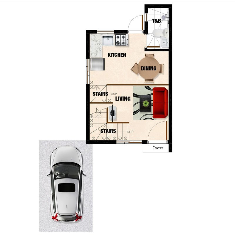 Mariana-UH Ground Floor Plan