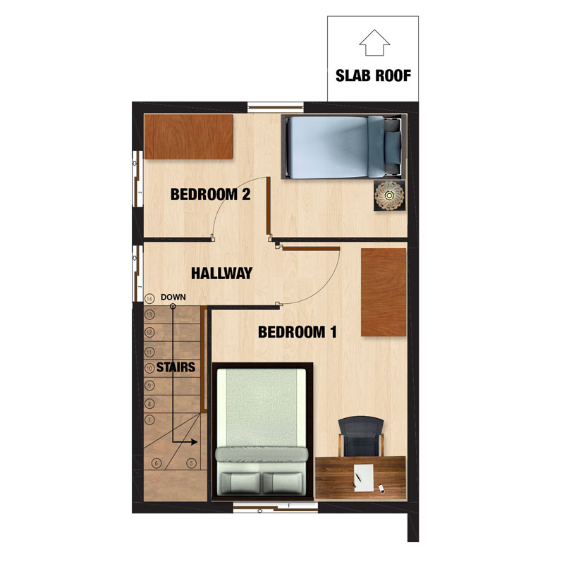 Mariana-UH Second Floor Plan