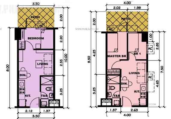 One Bedroom Unit Plan