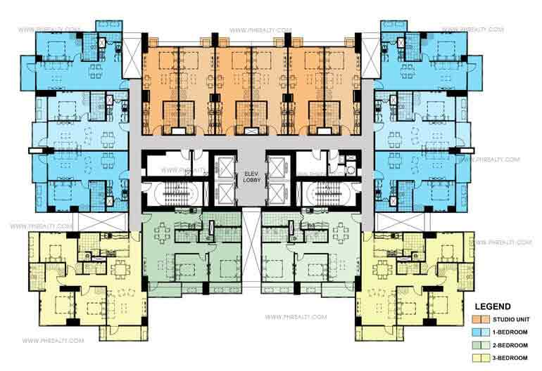 One Maridien Typical Floor Plan 7th-45th
