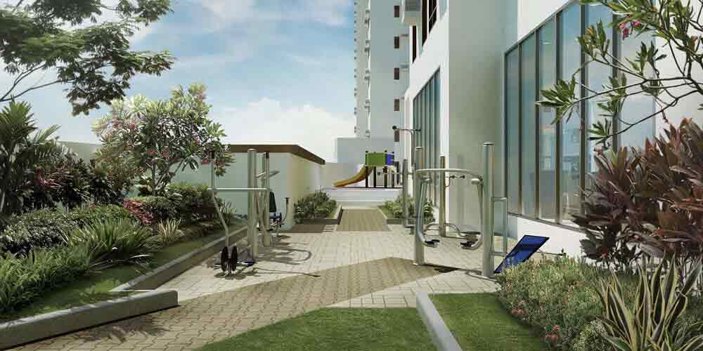 Outdoor Fitness & Landscaped Area