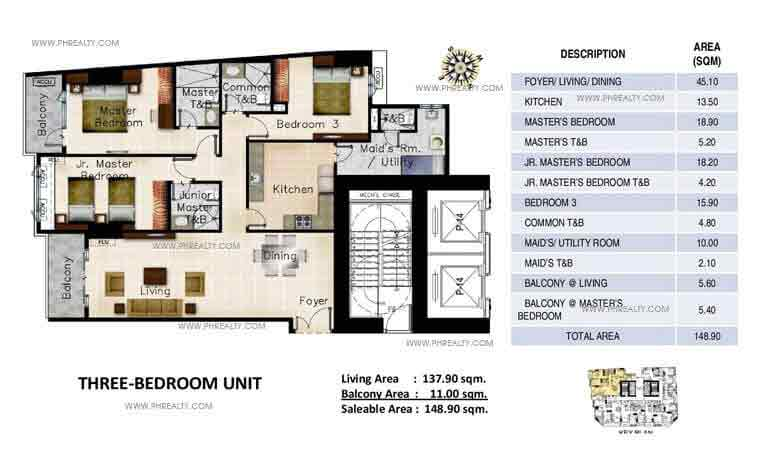 Three Bedroom Units
