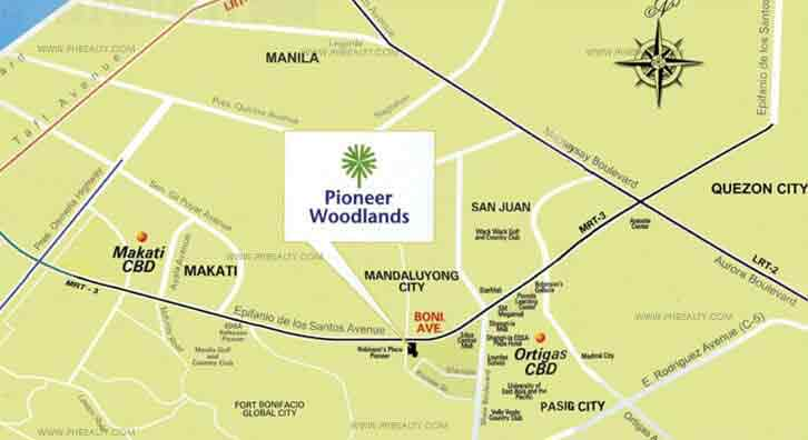 Pioneer Woodlands Location