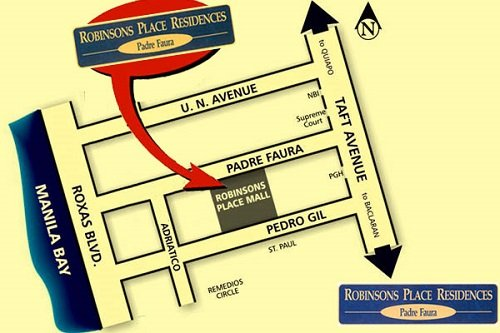 Robinsons Place Residences Location