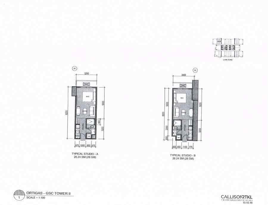 Studio Layout - GSC Tower II