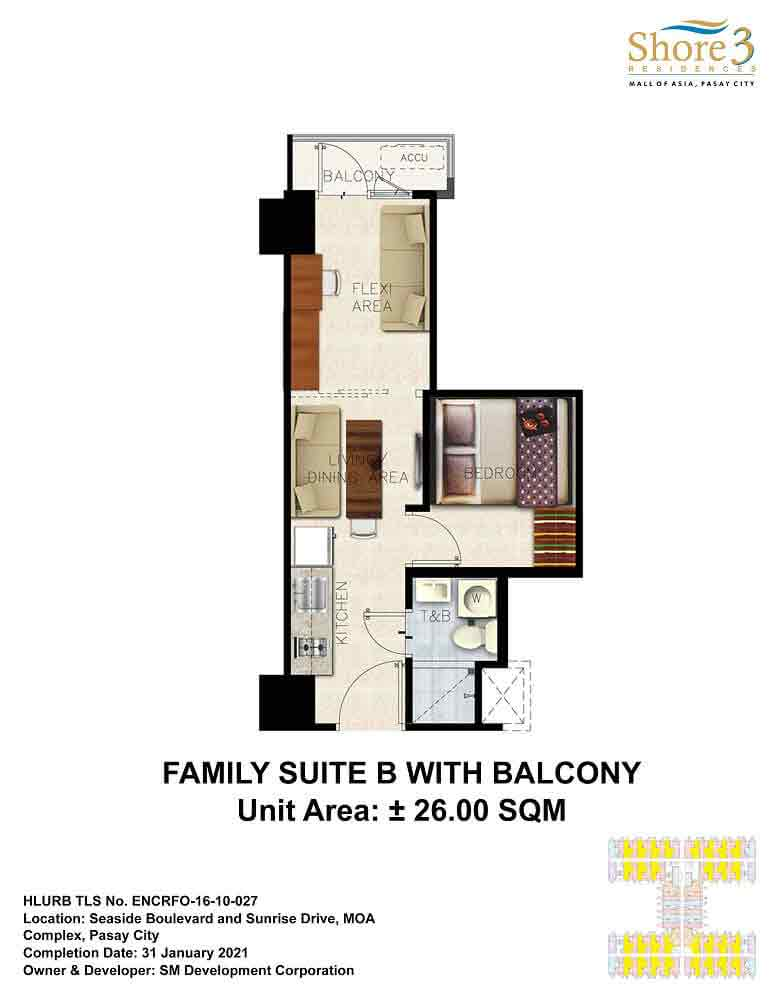 Family Suite B with Balcony