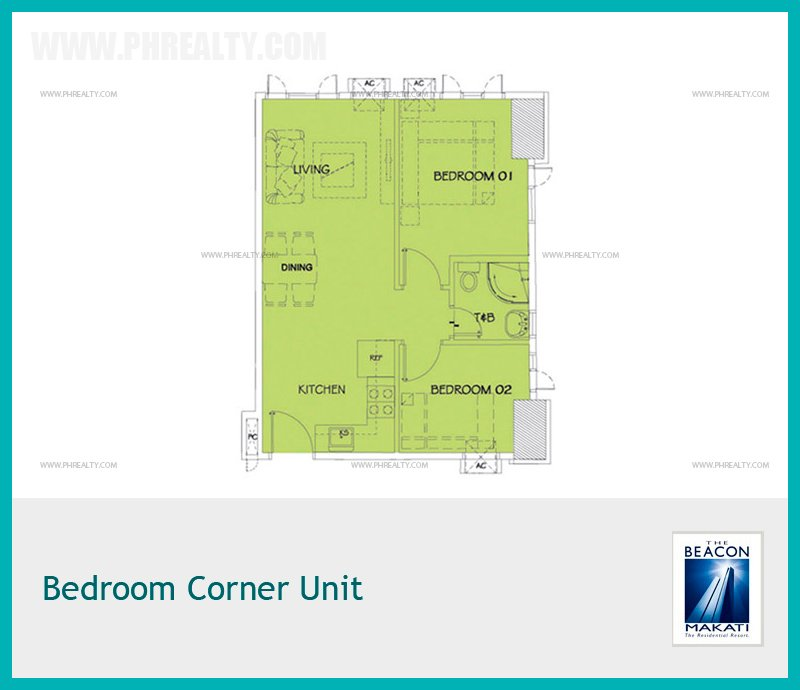 Bedroom Corner Unit