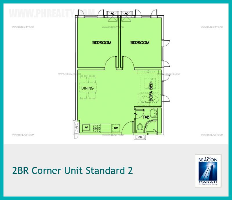 2 BR Corner Unit Standard 2