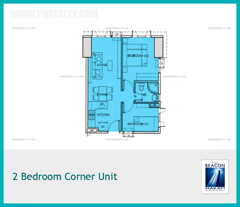 2 Bedroom Corner Unit