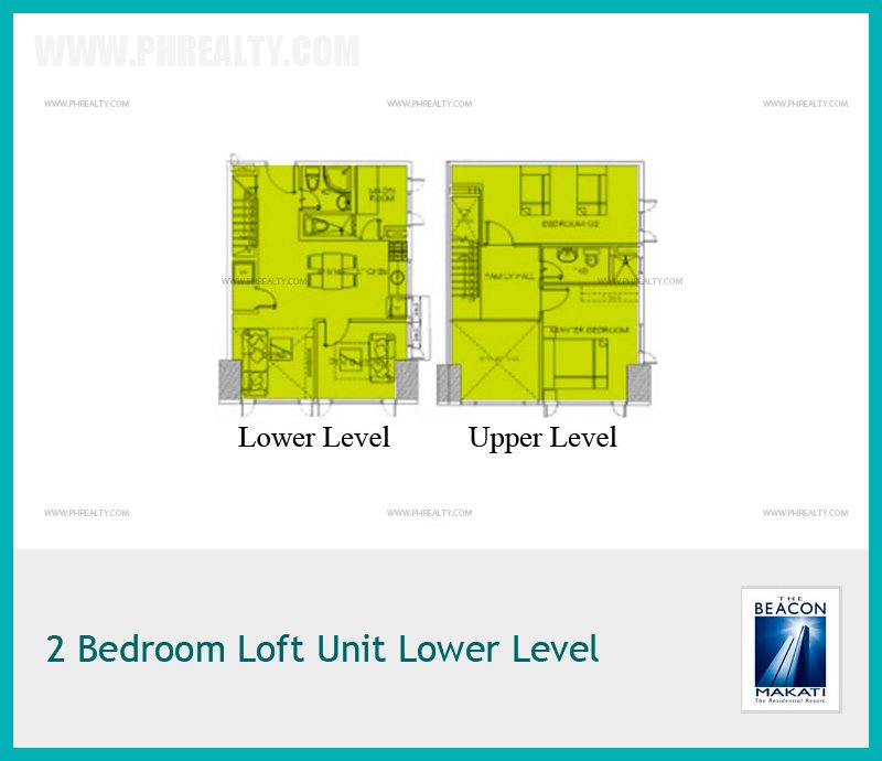 2 Bedroom Loft Unit Lower Level
