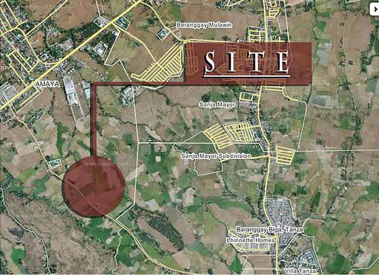 The Istana Tanza Charles Builders House Lot For Sale In Cavite - Tanza map