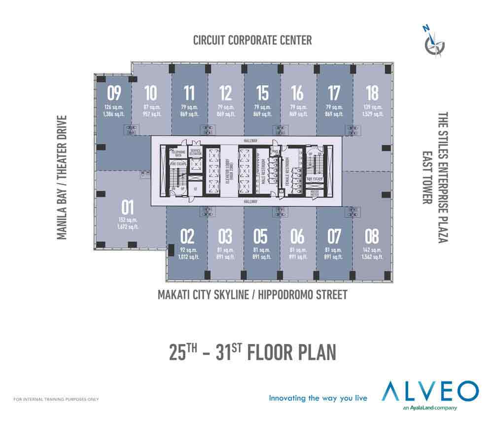 25th-31st Floor Plan