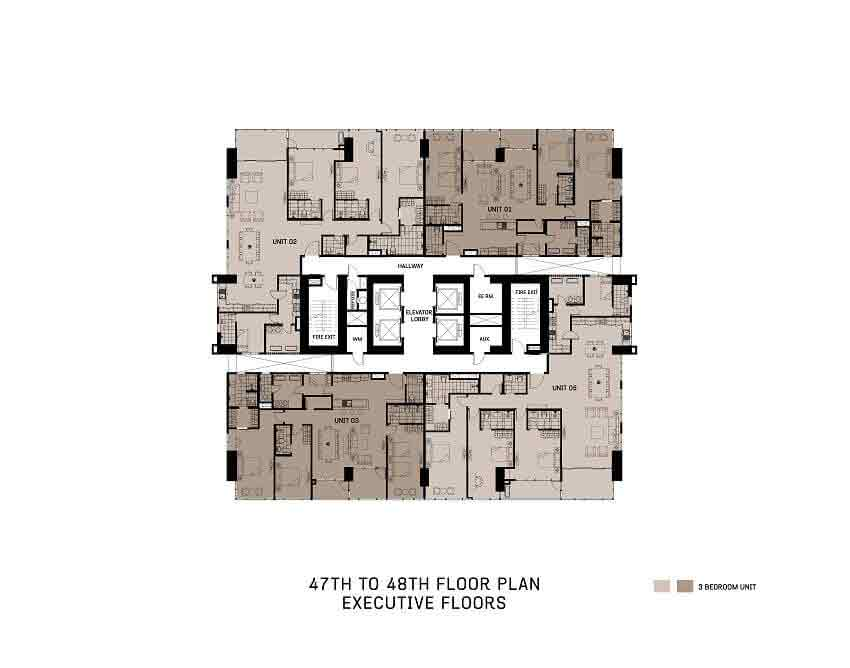 47th To 48th Floor Plan