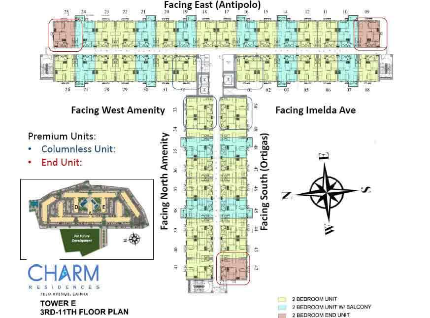 Tower E - 3rd - 11th Floor Plan