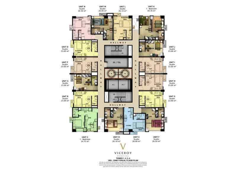 Floor Plan - 3rd Floor - 22nd Floor