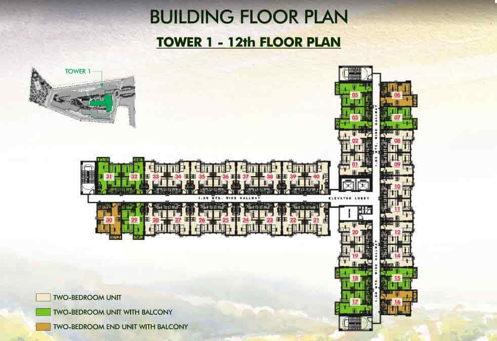 Tower 1 - 12th Floor Plan