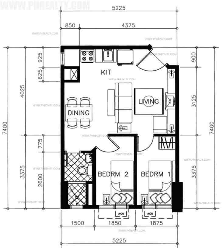 Tower 1 & 2 Typical Two Bedroom