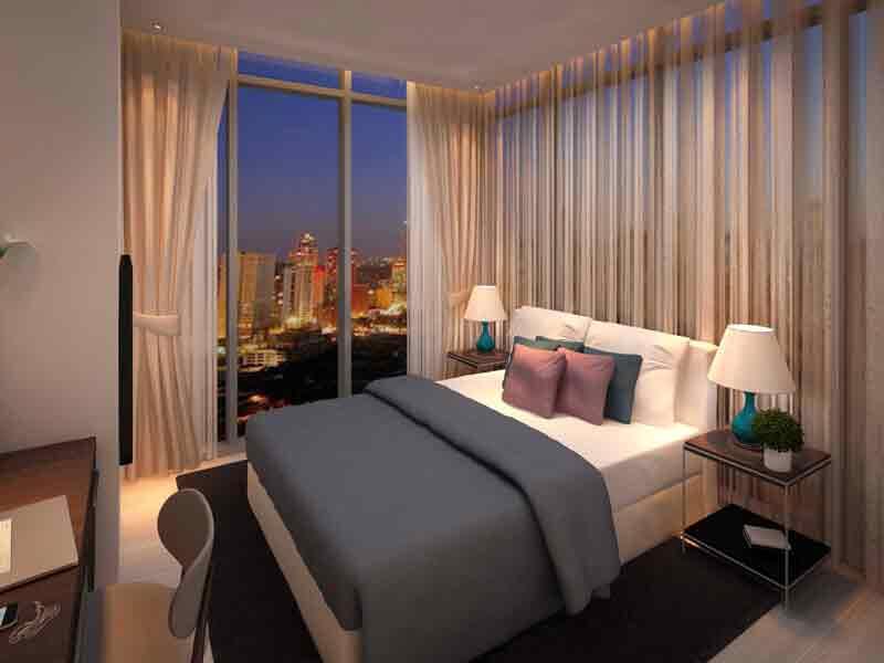 Tower 2 - One Bedroom Suite Master Bedroom