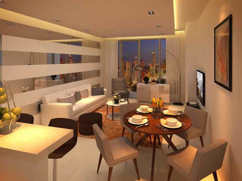 Tower 2 - 2 Bedroom Living and Dining