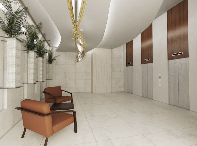 Tower B Ground floor lobby