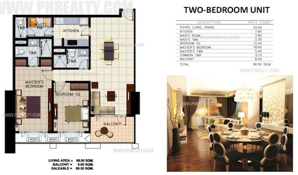 Two Bedroom Units