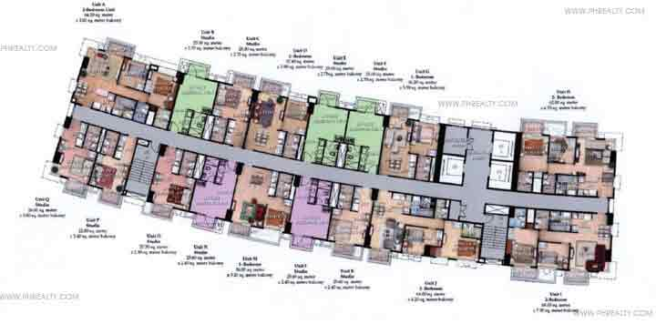 Typical 4th to 26th Floor Plan