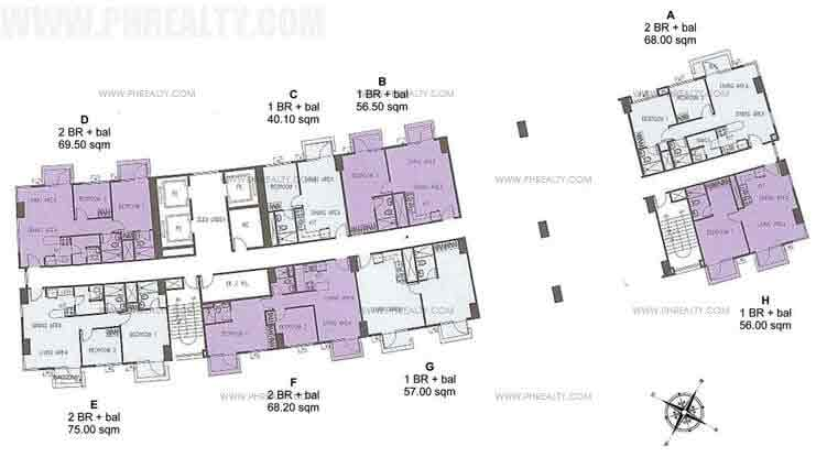 Typical Floor Plan 32th Floor To 35th Floor