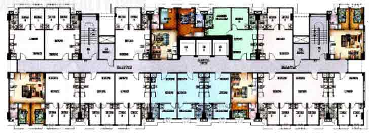 Typical Floor Plan 7th to 31st Floor