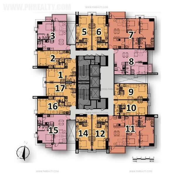 Typical Floor Plan with Balcony