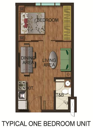 Typical One Bedroom Unit