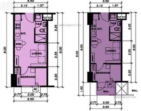 Typical One Bedroom Unit Plan