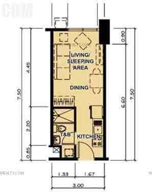 Typical Studio Unit Plan
