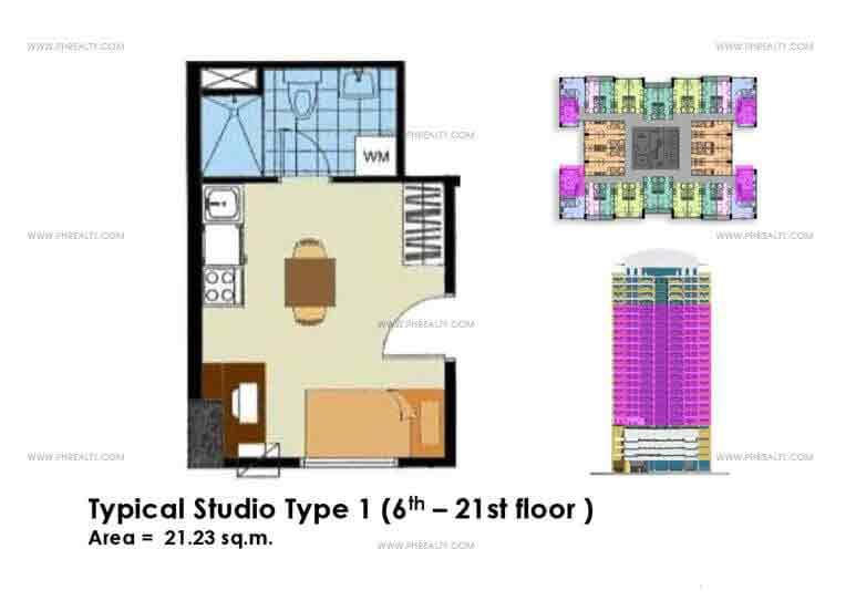 Typical Studio Unit Type 1