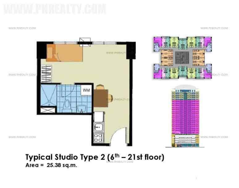Typical Studio Unit Type 2