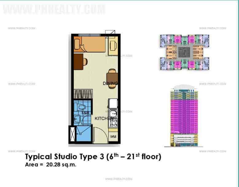 Typical Studio Unit Type 3